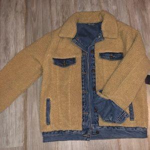 Jackets & Blazers - Reversible Sherpa Denim Jacket